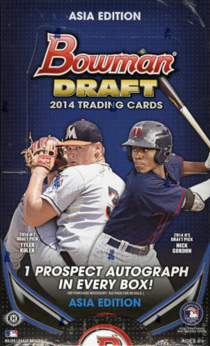 2014 Bowman Draft Baseball Hobby Box Asia Edition