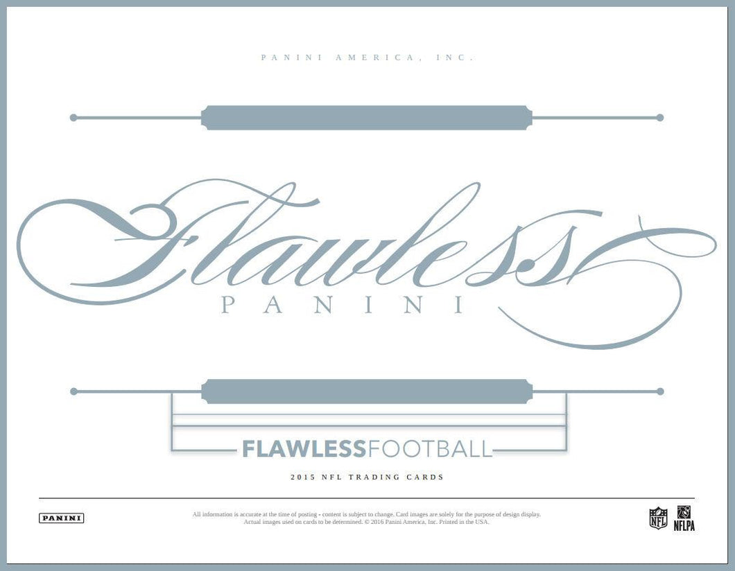 2015 Panini Flawless Football 2 box Case