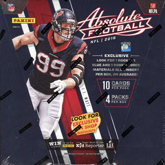 2016 Panini Absolute football retail Box