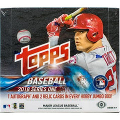 2018 Topps Series 1 Baseball Jumbo Box