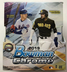 2019 Bowman Chrome Baseball Hobby 12 Box Case