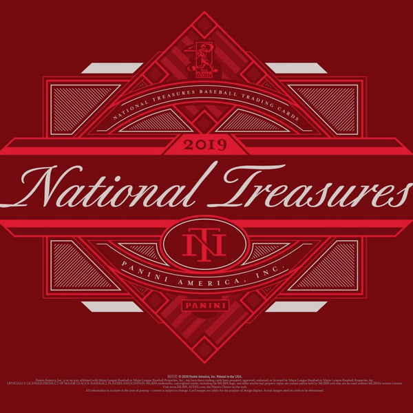 2019 Panini National Treasures Baseball Hobby 4 Box Case