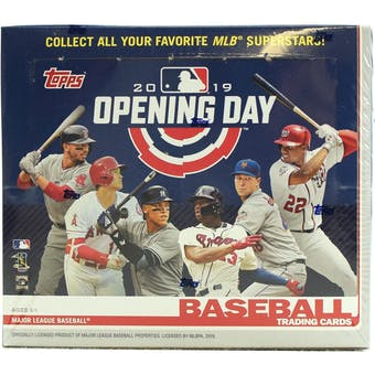 2019 Topps Opening Day Baseball Hobby Box