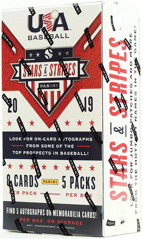2019 Panini Stars & Stripes USA Baseball Hobby 20 Box Case