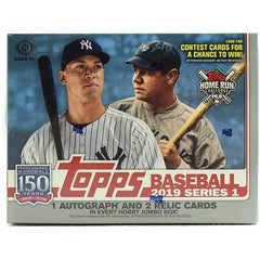 2019 Topps Series 1 Baseball Jumbo Box