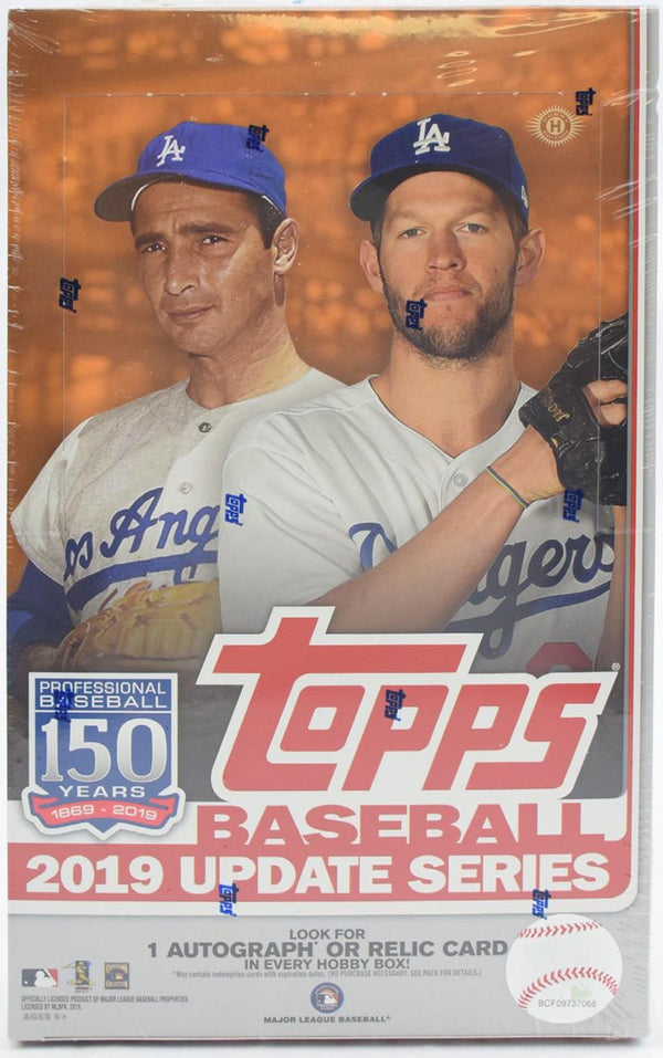 2019 Topps Update Baseball Hobby 12 Box Sealed Case