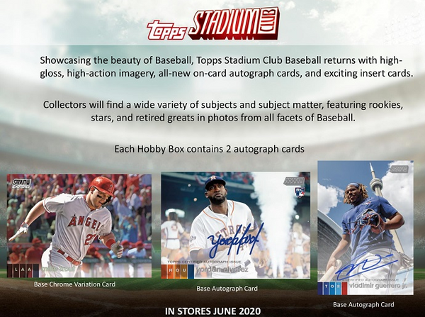 2020 Topps Stadium Club Baseball Hobby - box