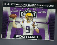 2020 Leaf Draft Football Blaster - 3 Autos - 20 Packs