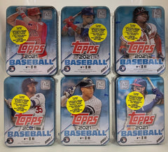 2021 Topps Series 1 Baseball 6 Tin Lot
