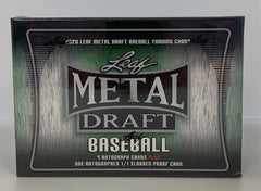 2020 Leaf Metal Draft Baseball Jumbo box