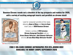 2020 Bowman Chrome Baseball 12 Box HTA Case Break #1 - Pick Your Team