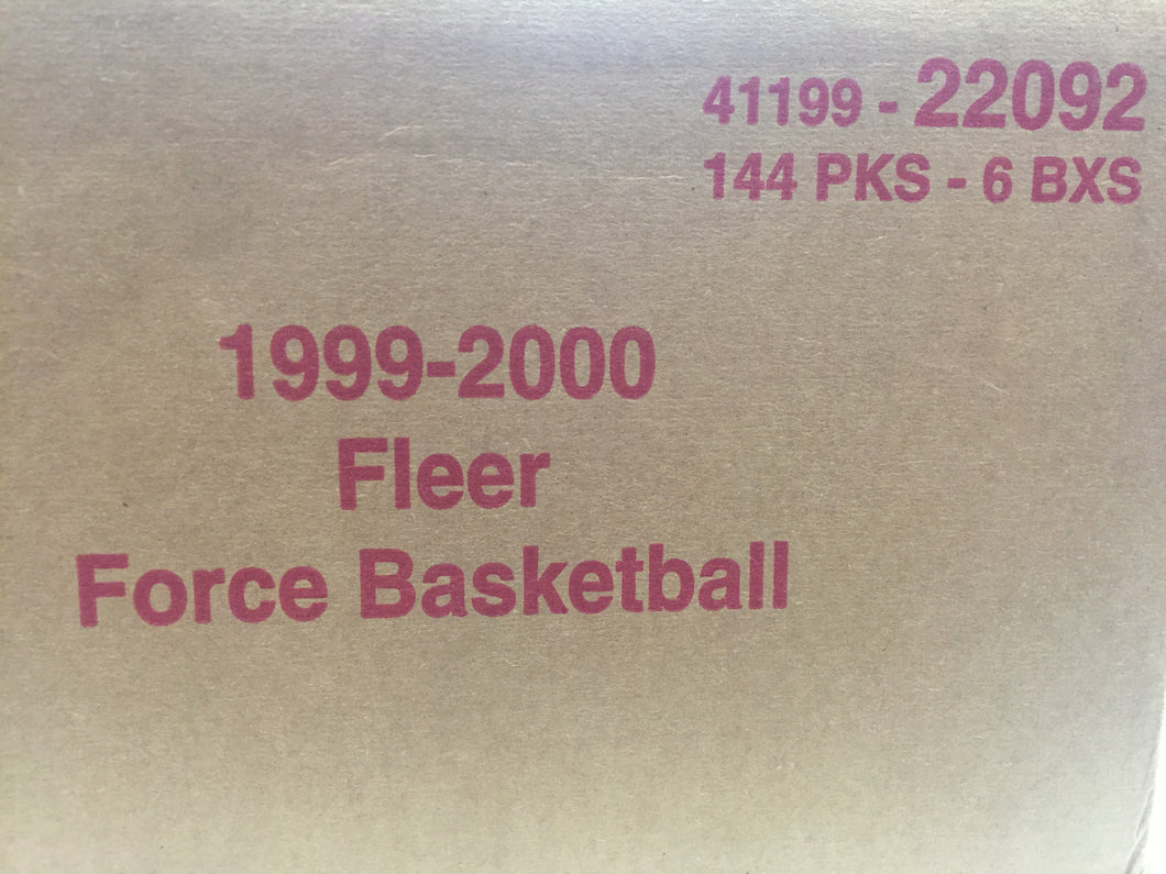 1999-2000 Fleer Force Basketball 6 box case - All Star Case Breaks