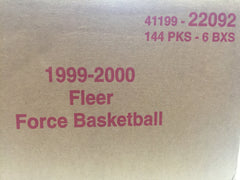 1999-2000 Fleer Force Basketball 6 Box Case