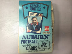 1989 Collegiate Collection Aurburn Tigers Coca-Cola Hobby Box