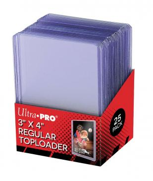 Ultra Pro Top Loaders Regular Size 3x4. 25ct Pack