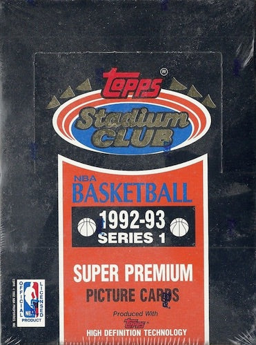 1992-93 Topps Stadium Club Series 1 Basketball Hobby Box