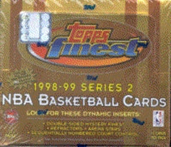 1998-99 Topps Finest Series 2 Basketball Hobby Box