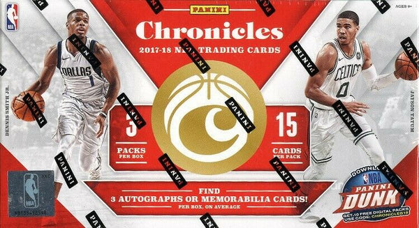 2017-18 Panini Chronicles Basketball 10 Box Sealed Case