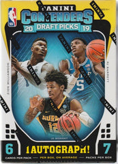 2019-20 Panini Contenders Draft Picks Basketball Blaster Box