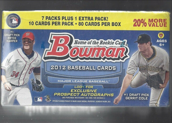 2012 Bowman Blaster Baseball 16 Box Case