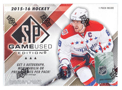 2015-16 Upper Deck SP Game Used Hockey 10 Box Case