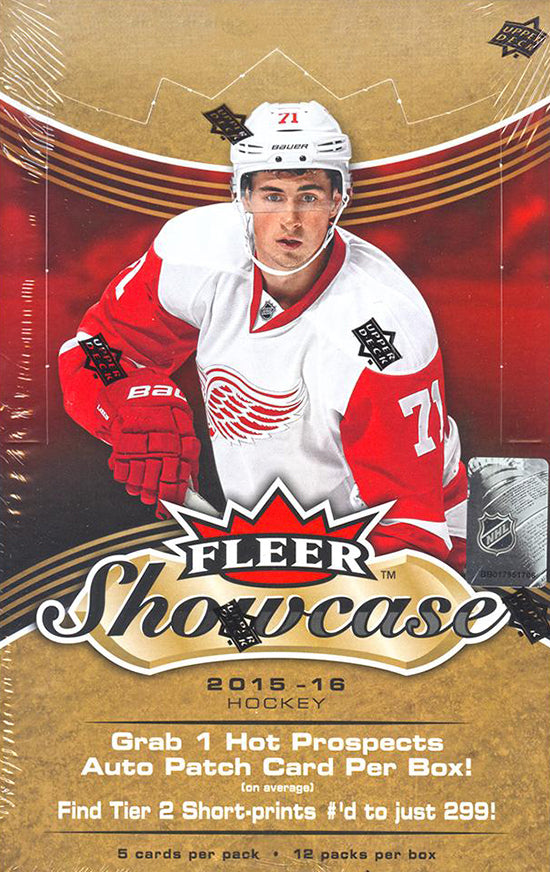 2015-16 Upper Deck Fleer Showcase Hockey 12 Box Case
