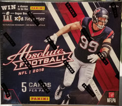 2016 Panini Absolute Retail Football 20 Box Case