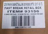 2017-18 Panini Optic Fast Break Basketball 20 Box Sealed Case