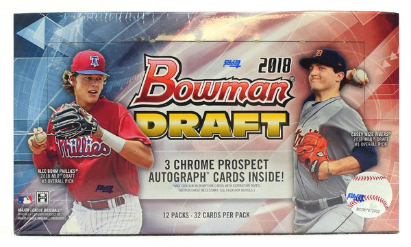 2018 Bowman Draft Jumbo Baseball 8 Box Case
