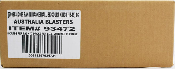 2018-19 Panini Court Kings Australia Basketball 20 Blaster Box Sealed Case
