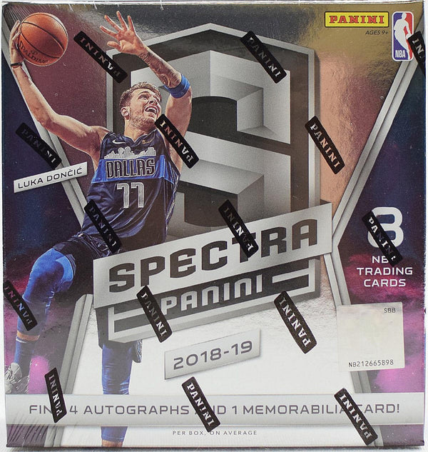 2018-19 Panini Spectra Basketball 8 Box Sealed Case
