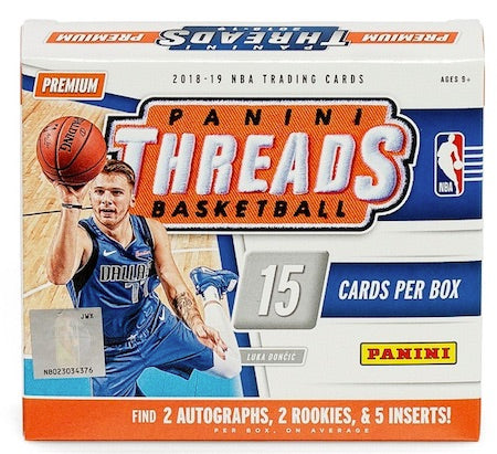 2018-19 Panini Threads Basketball 20 Box Sealed Case