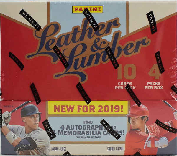 2019 Panini Leather & Lumber Baseball 10 Box Case