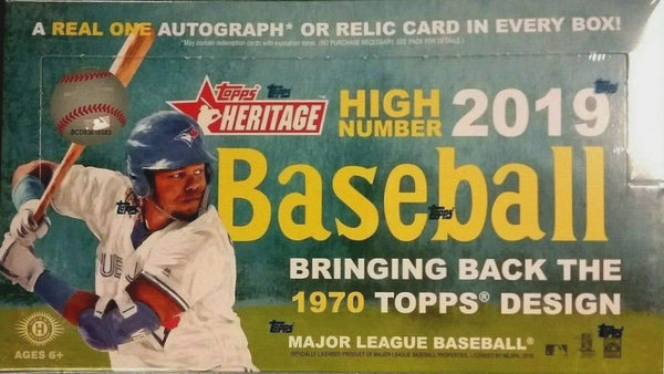 2019 Topps Heritage High Numbers Baseball 12 Box Case