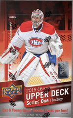 2015-2016 Upper Deck Series 1 Hockey Hobby Box