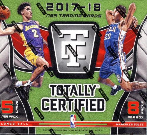 2017-2018 Totally Certified Basketball Hobby Box