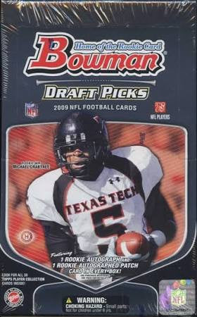 2009 Bowman Draft Picks Football Jumbo Hobby Box - All Star Case Breaks