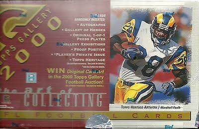 2000 Topps Gallery Football hobby box - All Star Case Breaks