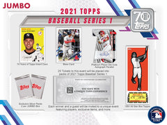 2021 Topps Series 1 Baseball HOBBY - JUMBO BOX