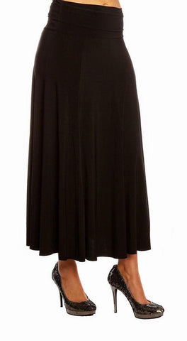 Knit Maxi Skirt - 3034208  ( BLACK )