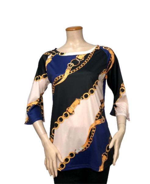 T1005 - DIGITAL PRINT ASYMMETRICAL TUNIC