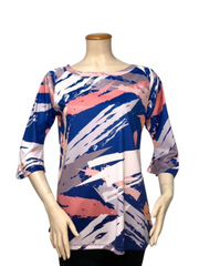 T1102 - DIGITAL PRINT TUNIC TOP