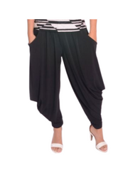 P033 - Pull On pants with wide waist band and Kangaroo Pockets