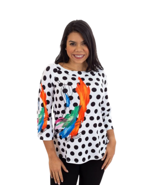 T1003 - DIGITAL PRINT ASYMMETRICAL TUNIC