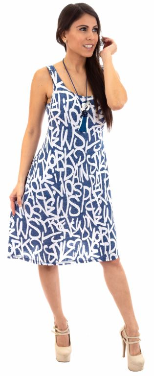 D001-FASHQUE DRESS - Swing  Comfy swing silhouette flares Dress - In Prints and Solid Colors