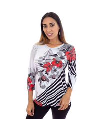 T1002 - DIGITAL PRINT ASYMMETRICAL TUNIC
