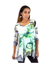 T1100 - DIGITAL PRINT ASYMMETRICAL TUNIC