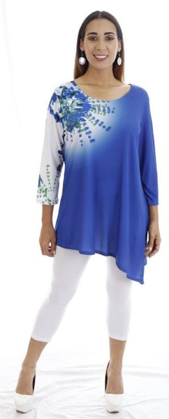 T1000 - DIGITAL PRINT ASYMMETRICAL TUNIC
