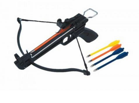 SPECIAL COMBO: 50lbs Pistol Fiberglass Crossbow with 12 extra arrows and 20 small targets