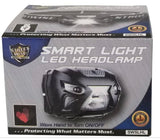 230 lumen Smart light LED headlamp USB rechargeable wave hand to turn on/off